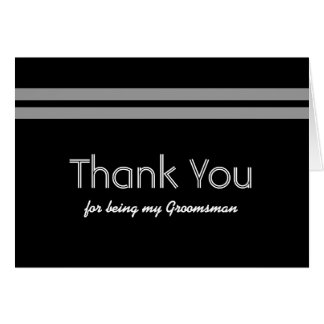 GROOMSMEN Bold Stripe Wedding THANK YOU V01 Card