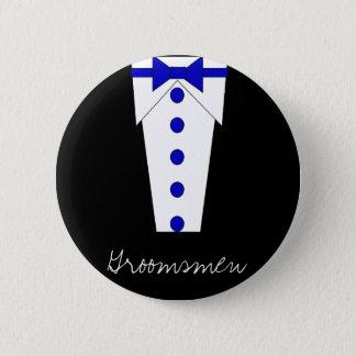 Groomsmen Button (Blue)