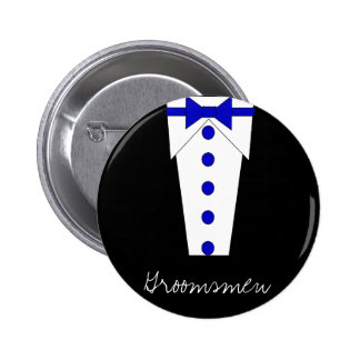 Groomsmen Button (Blue)