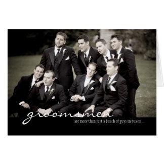 Groomsmen Wedding Thank You Card