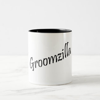 Groomzilla (Blk) Two-Tone Coffee Mug