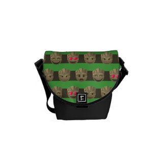 Groot Emoji Stripe Pattern Commuter Bags