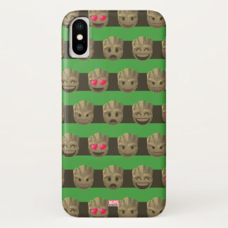Groot Emoji Stripe Pattern iPhone X Case
