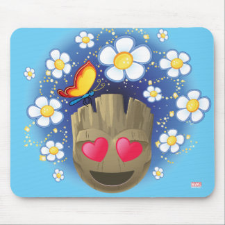 Groot In Love Emoji Mouse Pad