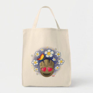 Groot In Love Emoji Tote Bag