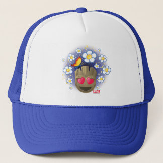 Groot In Love Emoji Trucker Hat