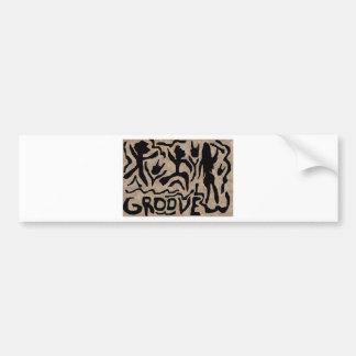 Groove Art Bumper Sticker