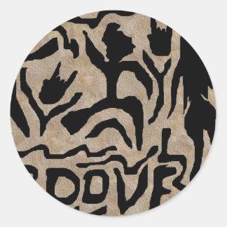 Groove Art Round Sticker