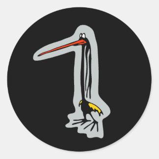 Groove bird 1 round sticker