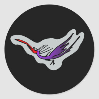 Groove bird 2 round sticker
