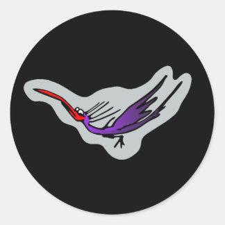 Groove bird 2 round stickers