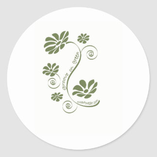 Groove on Green! Round Sticker