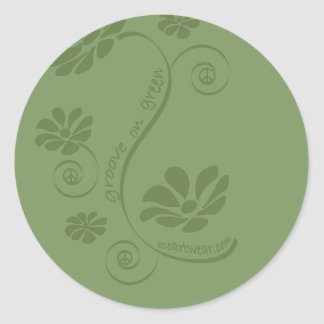 Groove on Green! Round Stickers