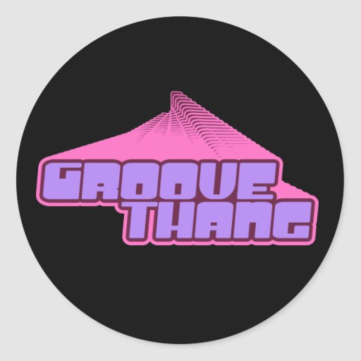 Groove Thang Round Sticker