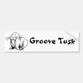 Groove Tusk bumper sticker