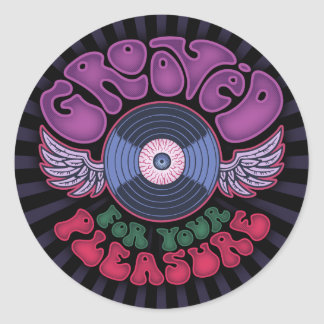 Grooved Round Sticker