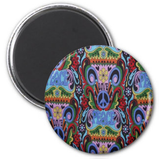 Grooviness 6 Cm Round Magnet