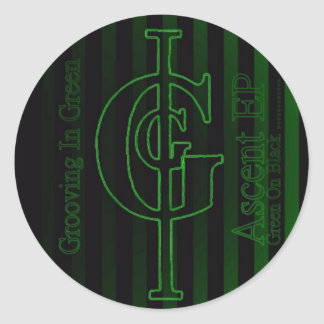 Grooving In Green Ascent EP Sticker. Round Sticker