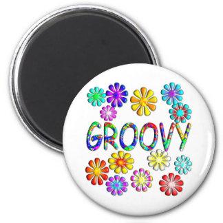 Groovy 6 Cm Round Magnet
