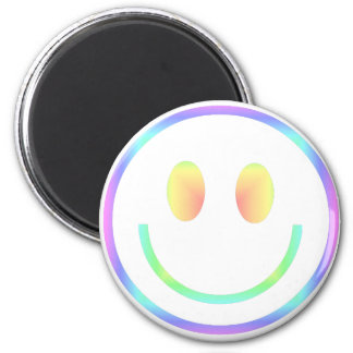 Groovy 70s Retro Happy Smiley Face Magnet