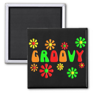 Groovy 70's T-Shirts and Gifts Magnet