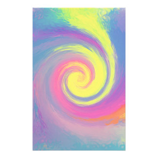 Groovy Abstract Spiral Swirl Customized Stationery