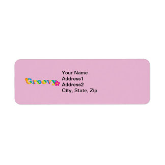 Groovy and Flowers Bright Colors 60s Hippie Design Return Address Label
