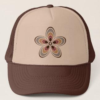 Groovy Art Deco / Retro Flower Trucker Hat