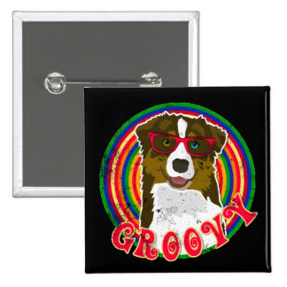 Groovy Aussie 2 15 Cm Square Badge