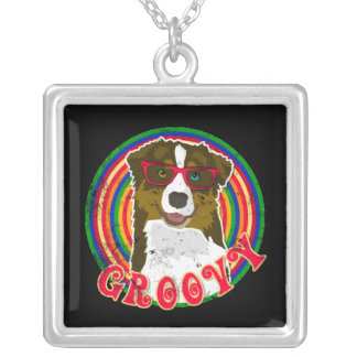 Groovy Aussie 2 Silver Plated Necklace