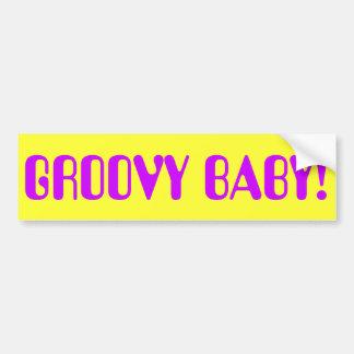 GROOVY BABY! BUMPER STICKER