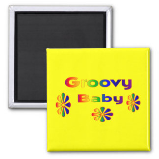 groovy baby square magnet