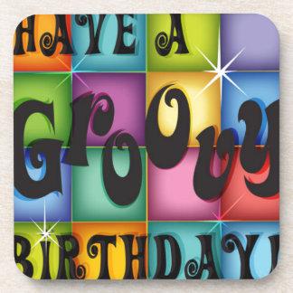 Groovy Birthday Drink Coasters