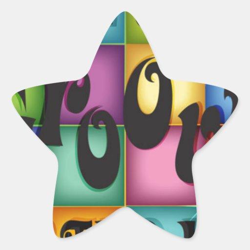 Groovy Birthday Star Stickers