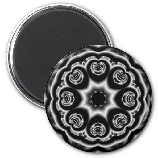 GROOVY BLACK AND WHITE DESIGN FRIDGE MAGNETS