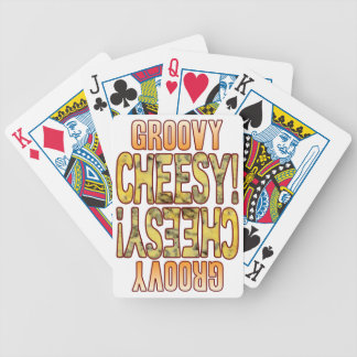 Groovy Blue Cheesy Bicycle Playing Cards