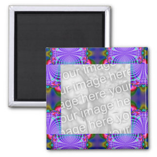Groovy blue circle abstract design fridge magnets