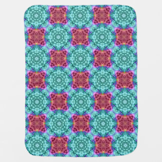 Groovy Blue  Kaleidoscope  Baby Blanket