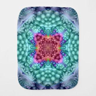 Groovy Blue  Kaleidoscope  Burp Cloth