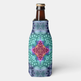 Groovy  Blue Kaleidoscope   Colorful Bottle Cooler