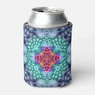 Groovy  Blue Kaleidoscope  Colorful Can Cooler