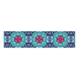 Groovy Blue   Kaleidoscope   Colorful Napkin Band