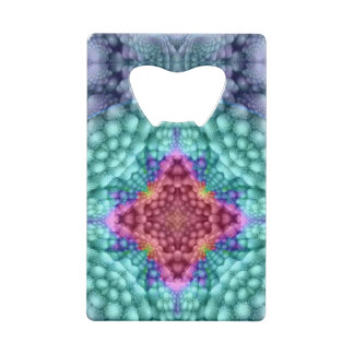 Groovy  Blue  Kaleidoscope   Credit Card Openers