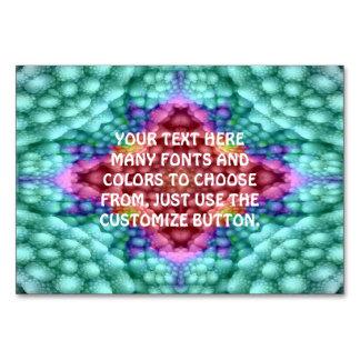 Groovy  Blue   Kaleidoscope   Tablecards Card