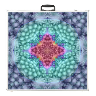 "Groovy Blue Vintage Kaleidoscope   96""  Pong Table"
