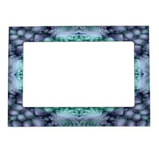 Groovy Blue Vintage Kaleidoscope   Magnetic Frames