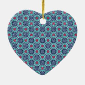 Groovy Blue Vintage Kaleidoscope  Ornaments