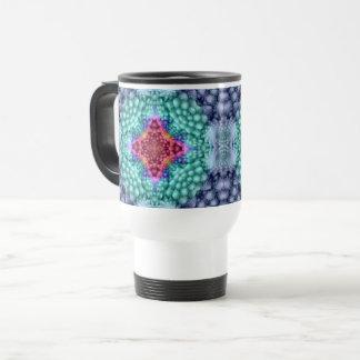 Groovy Blue Vintage Kaleidoscope   Travel Mug