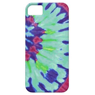Groovy Blues Tie-Dye Look iPhone case