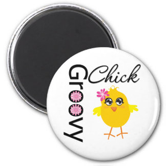 Groovy Chick Refrigerator Magnet